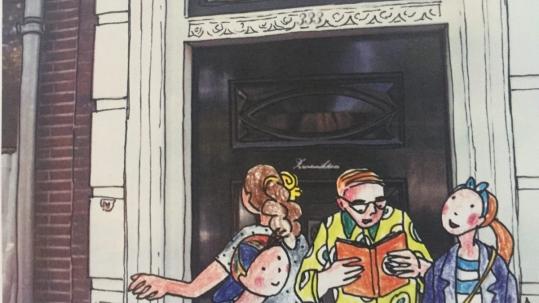 Hoofdpersonen avontuurlijk stripboek De Dwaalgids
