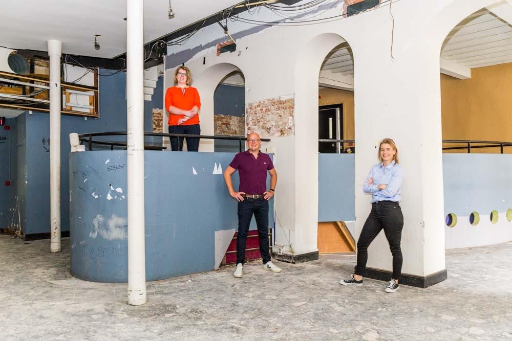 Suzan te Brake, Eva Schoonhoven en Gerhard te Velde in Studio Slachtstraat