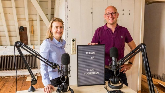 Eva Schoonhoven en Gerhard te Velde in Studio Slachtstraat